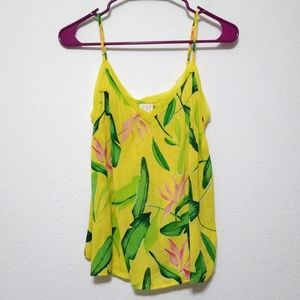 a new day tropical print cami with adj straps